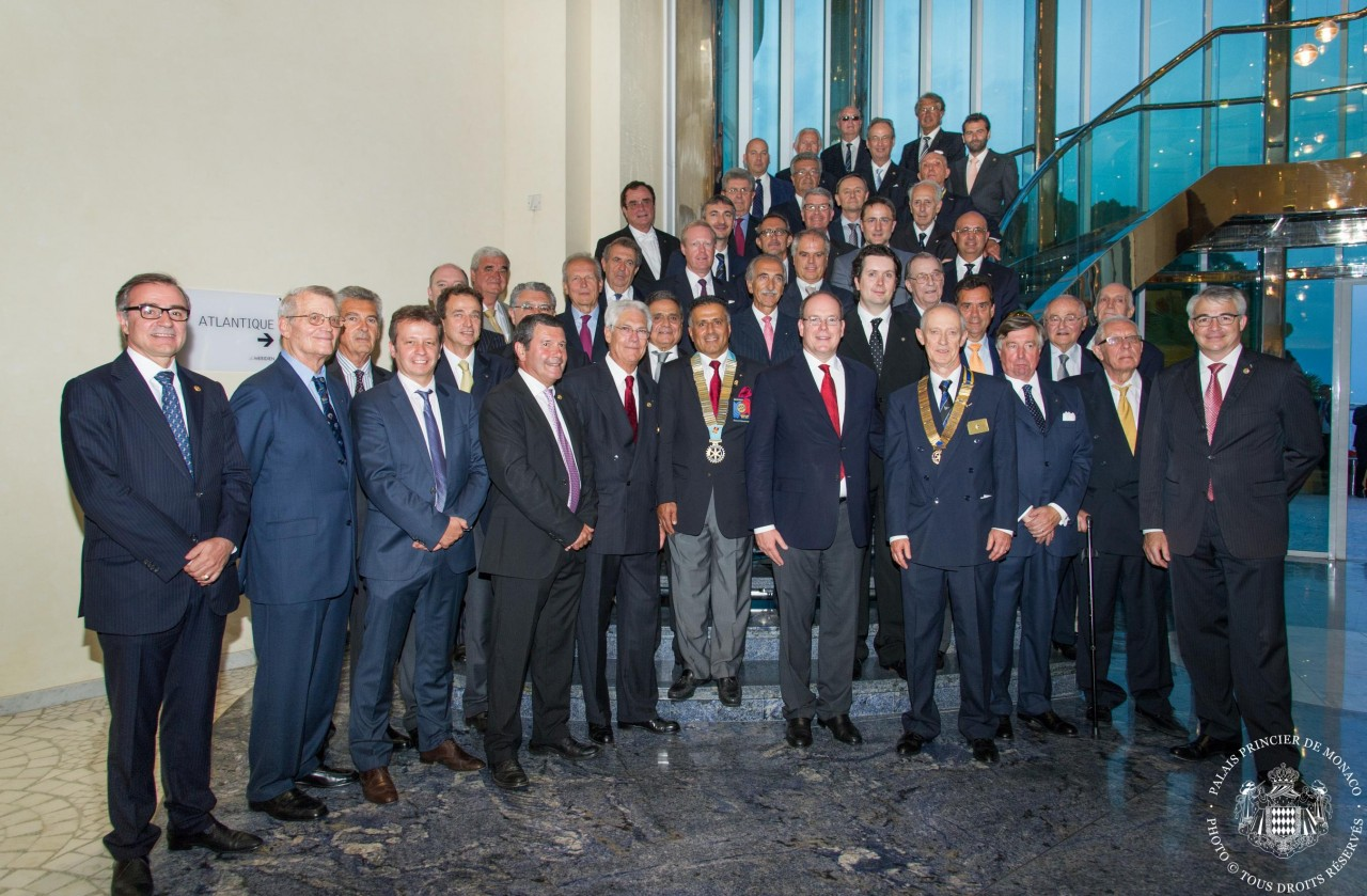 Les membres du Rotary Club de Monaco