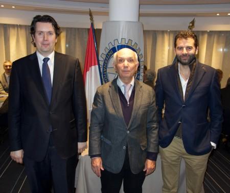 Léonard Jacquot (secrétaire), Roland Marquet (président) et Alexandre Gastaud (Trésorier)