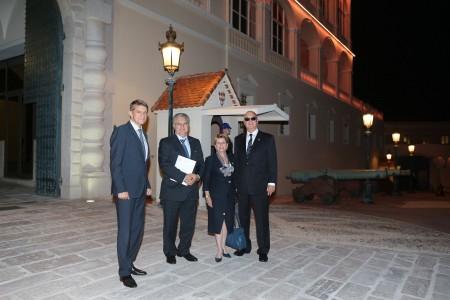 Visite protocolaire au Palais de Monaco: accueil par le Chambellan de SAS le Prince