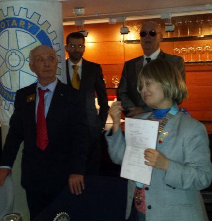 Remise de 5.000 euros à la!fondation Rotary qui célèbre son centenaire